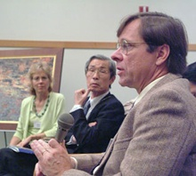 Alan Hodder with Yoichi Kawada and Virginia Straus Benson