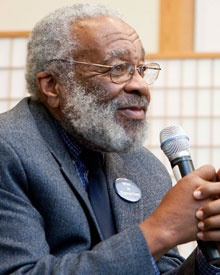 Vincent Harding at the Ikeda Center, Cambridge, MA