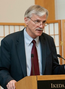 Larry A. Hickman at the Ikeda Center, Cambridge, MA